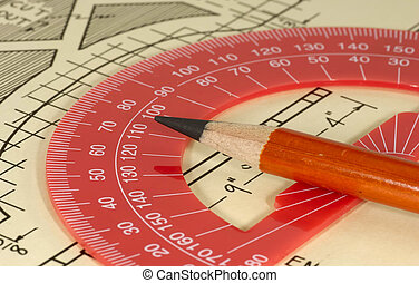 Design - Compass on top of Drawing