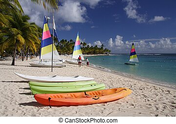 Caribbean Watersport - Beautiful caribbean beach with a...