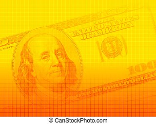 US dollar series 1 - Artistic background of a US$100 bill...