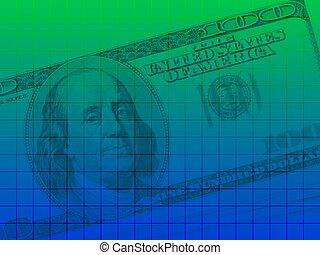 US dollar series 2 - Artistic background of a US$100 bill...