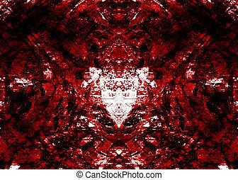 Grungy background - Dark red grungy background