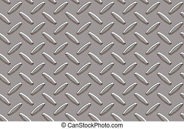 Silver Diamond Plate - Seamless background for silver...