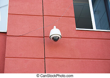 Security camera - All-around looking security camera by the...