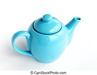 Teapot - Blue teapot - isolated