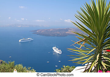 Santorini - View of Santorini Island, Greece