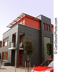 red life style - house and car