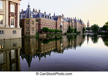 peaceful evening - the Hague , historical center