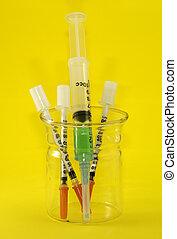 Syringes - Beaker with Syringes