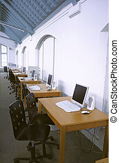 computer class-room - class in historical building