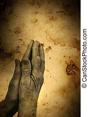 my God - prayingspecial photo fx,focus on the hands