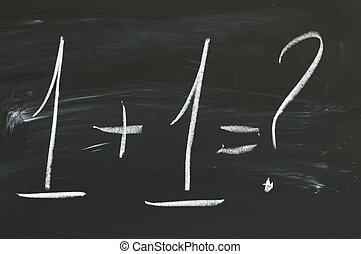 easy sum - arithmetic(focus on the center of the blackboard)...