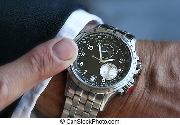 Wristwatch on a businessman