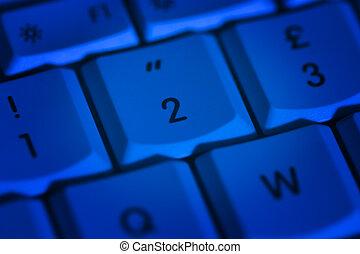Keyboard-01 - blue keyboard
