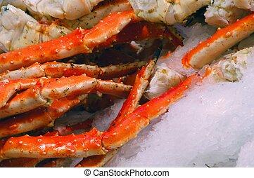 Crab on ice