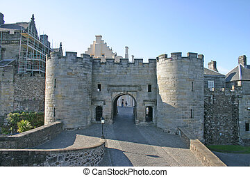 Gatehouse at Stirling Castle in Scotland UK