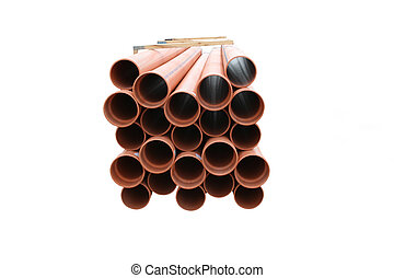 Plastic drainage pipes