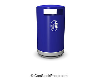Garbage Can - 3d image of a garbage can with a recycle...
