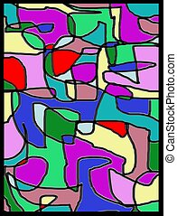 Mosiac background 2 - A mosiac stained glass background.