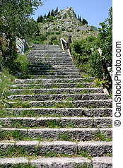 Steps - Old stone steps leading up a mountain