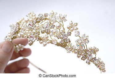 Wedding Day Tiara - Holding your precious wedding day tiara