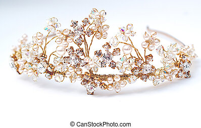 Elegant Tiara - Wedding Tiara in stunning gold , crystals...