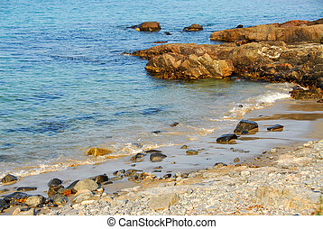 Atlantic coast - Rocks at Atlantic ocean coast in Maine