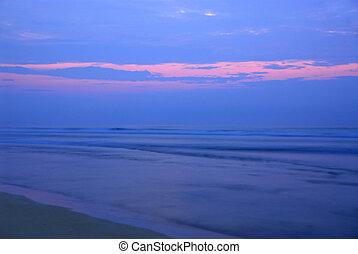 Sunrise over ocean - Sunrise over Atlantic ocean