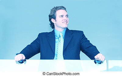 Young Business Man - Young business man in confident pose...