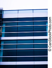 Business Building with glass and lines