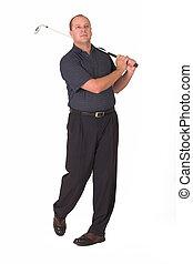 Golf #7 - Golfer following flight of golf ball