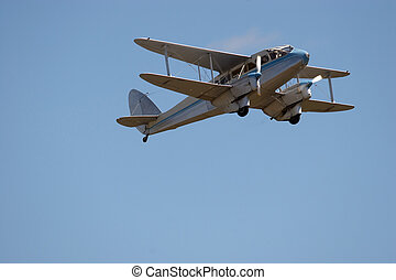 Twin Engined Bi-Plane - A twin engined bi-plane in flight
