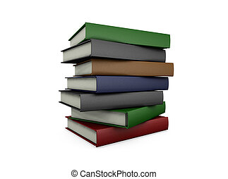 Stack of books - 3D render of a stack of books