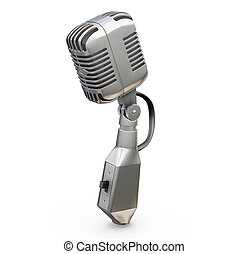 Microphone - 3D render of a microphone