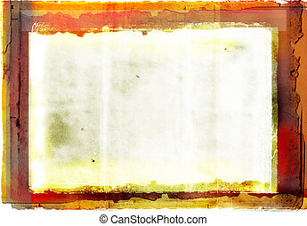 grunge photographic border - orange burnt edge book...