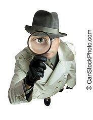 Detective - Man with magnifying glass