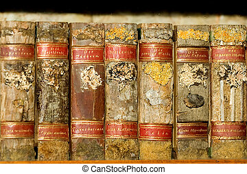 Old folios - Old university library in Prague, Czech...