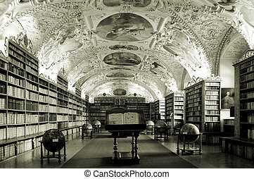 Old library - Old university library in Prague, Czech...