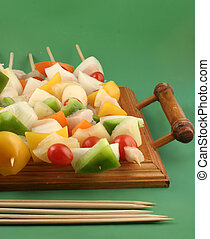 vegetable kabobs - Vegetable and Chicken kabobs