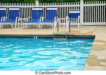 Outdoor swim pool