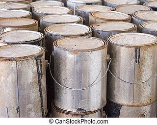 Paint Cans - Pint Cans Closeup
