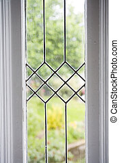 Stock Photo of a Leaded Glass Window - Photo of a leaded...