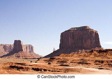 estoque, fotografia, monumento, vale, Arizona