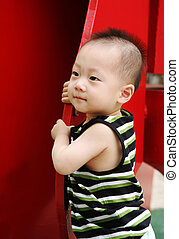 Mohawk baby - Cute Asian baby with a mohawk hairstyle