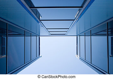 Blue constructions - Glassed blue constructions