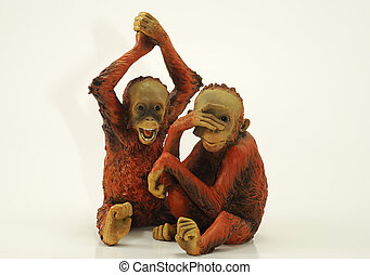 Chimps - Photo of Chimpanzee Figures