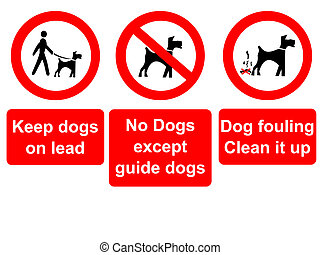 keep dogs on lead sign - keep dogs on lead, no dogs and...