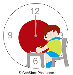 Times Up - Boy finishing up the exam