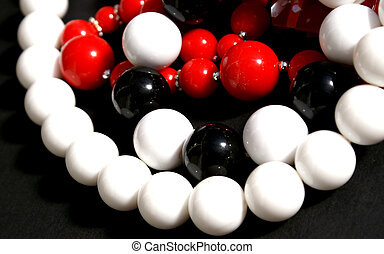 Plastic Beads - selection of kitsch plastic beads and...