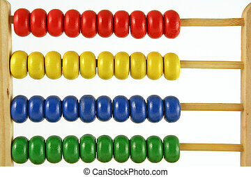 abacus at 0 - childrens abacus - calculator with all beads...