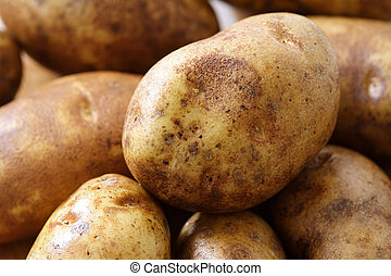 Potatoes - A close up of potatoes